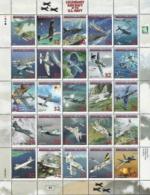 Marshall Islands,  Scott 2017 # 666,  Issued 1998,  Sheet Of 25,  MNH,  Cat $ 16.00,  Planes - Marshall Islands