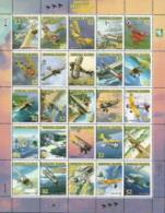 Marshall Islands,  Scott 2017 # 617,  Issued 1996,  Sheet Of 25,  MNH,  Cat $ 16.00,  Planes - Marshall Islands