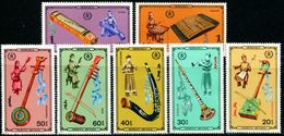 MG0416 Mongolia 1986 Tribal Instrument 7v MNH - Mongolia