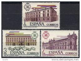 España 1976 Edifil 2326/8 Sellos ** Edificios Aduanas Antigua Aduana De Cadiz, De Madrid Y De Barcelona Completa Spain - 1931-Hoy: 2ª República - ... Juan Carlos I