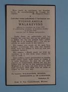DP Yvonne WALRAEVENS () Crainhem 4 Juni 1932 - Crainhem-Stokkel 25 Juni 1947 ( Zie Foto´s ) !