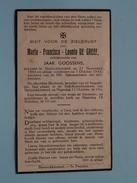 DP Maria DE GREEF ( GOOSSENS ) Steenokkerzeel 21 Nov 1893 - 7 Oct 1943 ( Zie Foto´s ) !