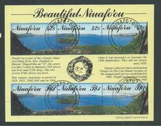 Tonga Niuafo´ou 1990 Crater Lake Miniature Sheet VFU - Tonga (1970-...)