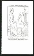 Künstler-AK Stille Betrachtung, Rumänischer Kriegsgefangener Hackt Holz - Weltkrieg 1914-18