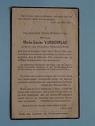 DP Maria-Louisa VANDENPLAS (Deschauwer) Corbeek-Dijle 8 Maart 1858 - Zaventem St. Joris 13 Feb 1941 ( Zie Foto´s ) !