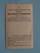 DP Jean-Baptiste EYLENBOSCH ( Verspecht ) Huizingen 16 Aug 1880 - Brussel 29 Juni 1948 ( Vlekken ! Zie Foto´s ) !