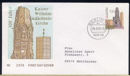 GERMANY - BERLINO - KAISER WILHELM GEDACHTNIS KIRCHE - Eglises Et Cathédrales