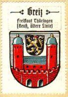 Werbemarke (Reklamemarke, Siegelmarke) Kaffee Hag : Wappen Von Greiz - Tea & Coffee Manufacturers