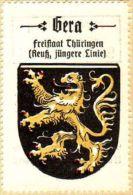 Werbemarke (Reklamemarke, Siegelmarke) Kaffee Hag : Wappen Von Gera - Tea & Coffee Manufacturers
