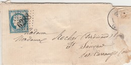 N° 60 25c Bleu O. Gros Chiffres 6288 Boucé (Orne). Indice 19. - Poststempel (Briefe)