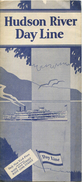Time Table 1929 - Hudson River Day Line - Fahrplan Faltblatt - Welt