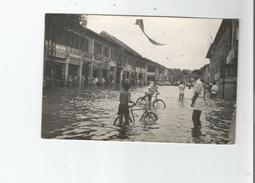 CAMBODGE CARTE PHOTO PHNOM PENH ASPECT DE LA VILLE INONDEE PAR LE TYPHON DU 23 10 52 - Cambodge