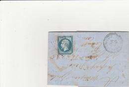 N° 22 O. Gros Chiffres 570 Le Bourg Saint Léonard (Orne), Cachet 22. Indice 8. - Poststempel (Briefe)