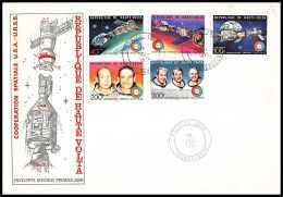 11451/ Espace (space) Lettre (cover) Apollo Soyuz (soyouz Sojus) Project Fdc Haute-Volta 18/7/1975 - Cartas