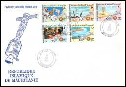 11470/ Espace (space) Lettre (cover) Fdc Apollo Soyuz (soyouz Sojus) Project Mauritanie (Mauritania) 29/12/1975 - Cartas