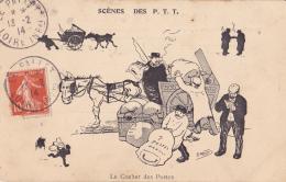 SCENES DES P T T LE COCHER DES POSTES SIGNEE MORER - Illustratoren & Fotografen