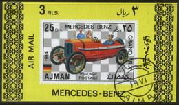 Ajman (United Arab Emirates) Mercedes Benz Racing Classic Car Used Cancelled Block M/S (U-102)