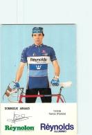 Dominique ARNAUD . 2 Scans. Cyclisme. Reynolds - Radsport