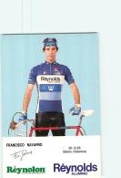 Francisco NAVARRO . 2 Scans. Cyclisme. Reynolds - Radsport