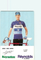Jésus UBEDA . 2 Scans. Cyclisme. Reynolds - Radsport