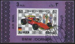 Ajman (United Arab Emirates) BMW Dornier Racing Classic Car Used Cancelled Block M/S (U-102)