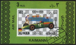 Ajman (United Arab Emirates) Kimann Racing Classic Car Used Cancelled Block M/S (U-102)