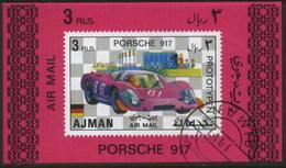 Ajman (United Arab Emirates) Porsche Racing Classic Car Used Cancelled Block M/S (U-103)