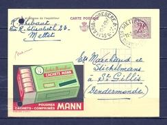Postkaart Van St Maria Horebeke Naar St Gilles Dendermonde - 1977-1985 Figure On Lion