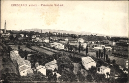 Cp Crespano Veneto, Panorama Des Ortes, Wohnhäuser, Turm - Other
