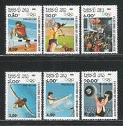 LAOS - 1983 - I° EMISSIONE DI 6 VALORI NUOVI STL DEDICATI AI GIOCHI OLIMPICI DI LOS ANGELES - IN BUONE CONDIZIONI. - Summer 1984: Los Angeles