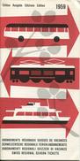 Schweizerische Regionale Ferien-Abonnemente - 15 Regionen - Edition BLS Bern 1959 - Europa