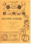 1 CATALOGUE 1992 COLLECTION PAPIER MONNAIE FRANCE ET ETRANGER 21X15cm EDITIONS NUMIS'AISNE 36 PAGES - French