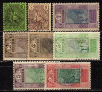FRANZ. GUINEA 1904-1924 - Lot 8 Verschiedene * / Used - Französisch-Guinea (1892-1944)
