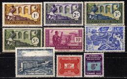 FRANZ. ÄQUATORIALAFRIKA - Lot 9 Verschiedene  * / Used - A.E.F. (1936-1958)