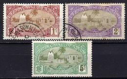 FRANZ.SOMALIKÜSTE 1909 - Lot 3 Verschiedene  Used - Französich-Somaliküste (1894-1967)