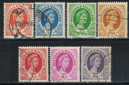 RHODESIEN & NYASSA 1954 - Lot 7 Verschiedene  Used - Rhodesien & Nyasaland (1954-1963)
