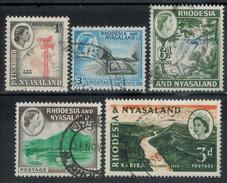 RHODESIEN & NYASSA 1959 - Lot 5 Verschiedene  Used - Rhodesien & Nyasaland (1954-1963)