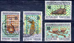 Tunisie 1970, Instruments De Musique  YT 671 - 674, Oblitéré , Lot 46856 - Tunesië (1956-...)