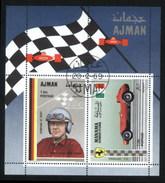 Ajman (United Arab Emirates) Racing Car Drivers Used Cancelled Block M/S (U-104)
