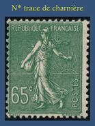 N° 234 SEMEUSE FOND LIGNÉ 1927-31 - N* TRACE DE CHARNIÈRE - 1903-60 Säerin, Untergrund Schraffiert