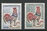 """Yt 1331 Et 1331A  """" Coq De Decaris """" 1962 Neuf ** - France"""