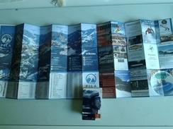 Alt980 Ski Area Pocket Map Mappa Piste Sci Skirama Impianti Risalita Skilift Cablecar Gondola Funivia Pila Valle Aosta - Sport Invernali