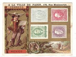 CHROMO MAGASIN A LA VILLE DE PARIS - MEXICO - REPRESENTATION DE TIMBRES MEXICAINS - CORREOS - Altri