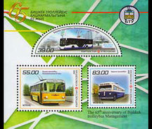Kirgizië / Kyrgyzstan - Postfris / MNH - Sheet 65 Jaar Trolleybus 2016 - Kirgizië