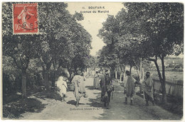 Cpa Algérie, Boufarik - Avenue Du Marché    ((S.1510)) - Algérie