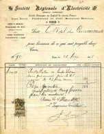 N°27 M -facture Sté Régionale D'Electricité à CAEN- - France