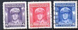 T1974 - FILIPPINE 1948 , Yvert N. 338/340  Usato. - Filippine