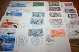 Lot 14 Enveloppes Toutes Différentes FDC Premier Jours Aviation Divers Cote Totale 360€ - FDC