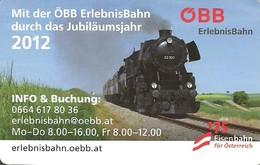 RAIL RAILWAY RAILROAD TRAIN * STEAM LOCOMOTIVE * OBB AUSTRIAN FEDERAL RAILWAY * CALENDAR * Erlebnis Bahn 2012 * Austria - Calendari