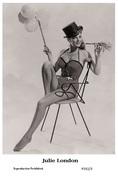 JULIE LONDON - Film Star Pin Up PHOTO POSTCARD- Publisher Swiftsure 2000 (P292/3) - Postcards